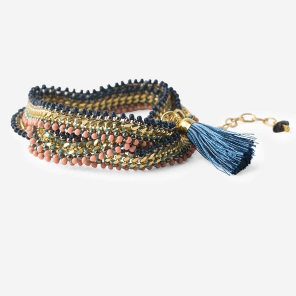 Noonday Collection Jewelry - Noonday Serenity Wrap bracelet 💜💙